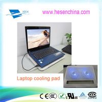 Double fans blue led laptop cooler