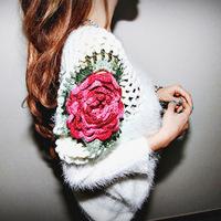 Free shipping  New Fashion  ALL-MATCH  Women Elegant  Loose Plus Size Sweater retail & wholesale  S M L XL Four Size