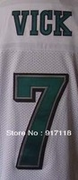 Free Shipping #7 Michael Vick Men's Elite Football Jersey,Embroidery and Sewing Logos,Size M--3XL ,Accept Mix Order