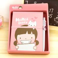Hearts . fashion stationery small fresh girl notebook personalized diary tsmip