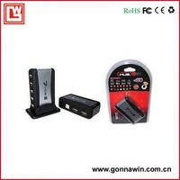 Free shipping/USB HUB 2.0 7 port (with power charger)/USB2.0 HUB/7 Port USB HUB