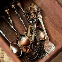 Fashion vintage coffee spoon tea spoon ice cream spoon gorgeous carved alloy spoon 10pcs/set ,mix color