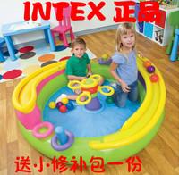 Intex48658 track ball pool inflatable toys ocean ball child slide ball pool small