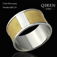 2103 fashion jewelry famous stainless steel bangles for women steel with origin gold genuine leather bangles free ship QR-233