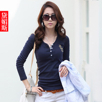2013 autumn t-shirt female long-sleeve women's all-match top basic female long-sleeve shirt