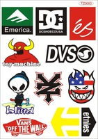 A4 size per set Skateboard stickers laptop stickers monoboard car sticker car accessories tz0083