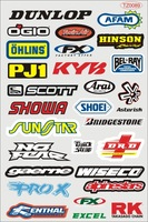 A4 size per set Motorcycle electric bicycle applique waterproof sunscreen car sticker skateboard stickers decoration tz0090