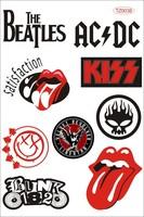 A4 Size Car sticker punk guitar rock stickers hiphop waterproof stickers music tz0038