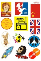 A4 size per set Purported travel bag luggage applique box car sticker tz0036