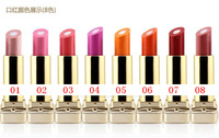 Free shipping 8 colors rouge lipsticks/lip sandwich/balm/batom lustre moisturizing 2 flavors nude naked makeup cosmetics brand