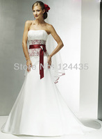 Quality 2013 brief bridal wedding dress train wedding dress bandage