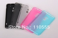 wholesale-500pcs/lot  2013 new arrival  items soft gel skin cover ultra thin matte pudding tpu case FOR HTC ONE MAX T6 DHL  free