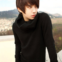 Male sweater 2013 autumn pullover sweater thin men's clothing sweater o-neck sweater trend