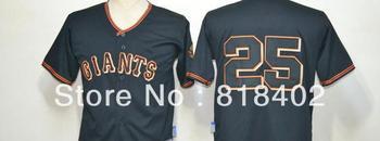 Free shipping-San Francisco Giants #25 Barry Bonds Black jersey,Giants star jerseys