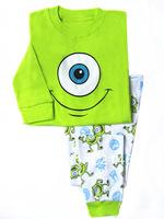Retail baby long sleeve Frog pattern t shirt + pants 2pcs baby autumn pajamas baby clothing set W 01
