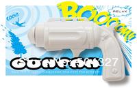 Free Shipping 1Piece Hand-Held Gun Fan / Pistol Shaped Fan (Black/White U Choose)