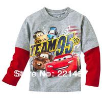 Retail ,baby boy car long sleeve t shirt baby 100% cotton  t shirt Q805
