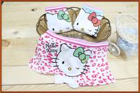 Free Shipping (6PCS/lot) Baby Girls Panties Underwear Cotton and Lycra Kids Underwear Children shorts Hello Kitty