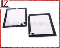 for ipad 2 touch screen digitizer New and original Black and white the same price 20pic//lot Assembly with home btton 3M Camera