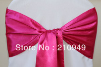 200pcs fuchsia chair sashes for weddings satin sash wedding chairs  wedding bow sash  free shipping