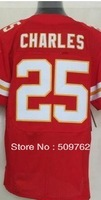 Kansas 50# Justin Houston and 25#Jamaal Charles american football jersey Elite  jersey wholesale mix order free ship by DHL