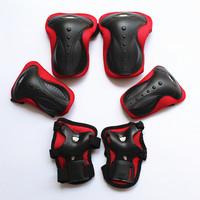 Adult Skating sports Kneepad Armfuls Elbow Skateboard Flanchard 6 set Kneelet Free Shipping