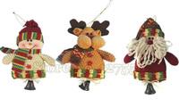 Free shipping 10pcs/lot Christmas gifts, fabric Christmas decorations,santa snowman ornament,santa snowman and reindeer,
