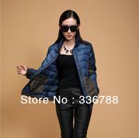 2013 Winter Women New European Famous Brand Color Patchwork Down Jacket