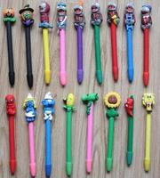 100pcs/set  pen  wholesale school supplies Ball pen  Zombie design colorful plants pen polymer clay pen