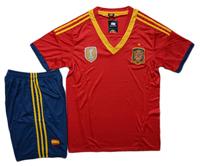 Spain team soccer jersey national team football jersey toreadors jersey european cup red short-sleeve uniforms