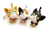 Sweet Fashion Cat Kat Key Chain Lovers Key Ring 5pcs/lot Lovely Kitty Key Chains Free Shipping