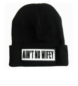 2014 real new hats for fashion hiphop ain't no wifey in snapbacks cap and hat ,homies wasted youth beanie winter knit wool hats