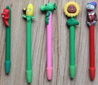 48 pcs/set  pen  wholesale school supplies Ball pen  Zombie design colorful plants pen polymer clay pen