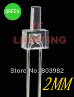 High bright 2mm dip led Pure green water clear led diode 3.0-3.5V 520-525nm(CE&Rosh)