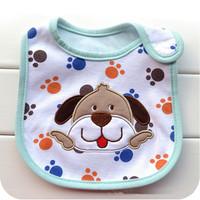 2014 Babador Carters Babadores Bibs Fashion free Shipping Baby Carter Three-layer Waterproof Cotton Beetle Babies Drool Towel