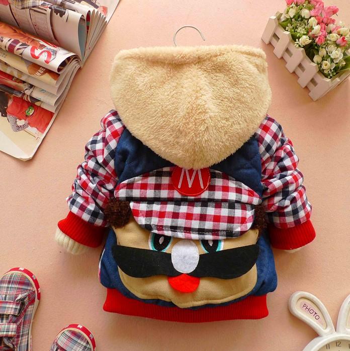 2013 bebê patchwork menino inverno criança outerwear amassado crianças jaqueta infantil roupas Parkas 0-2 anos(China (Mainland))