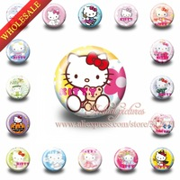 Out of print collection badges, 18pcs Hello Kitty  buttom pin badges wholesale at random ,Kids party Best gift,HYB1103-a