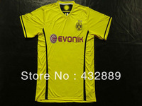 Hot Thailand quality 2014 Borussia Dortmund soccer jersey100% embroidery soccer clothes Custom name Lewandowski Gotze