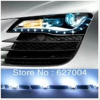 Free Delivery Car angel eyes decoration lights LED daytime running lights eyebrow lights 60 cm