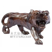 Red sandalwood tiger wood carving sculpture crafts decoration black animal wooden 5 8 red