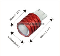 Freeshipping  T20 high power 1-SMD 3w 90lm 12V/24V  back up light