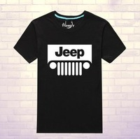 Free shipping Je-ep cars shirts 100% cotton short sleeve diy T-shirt sports car shirts