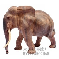 Rosewood mahogany elephant lucky decoration wood carving animal lucky