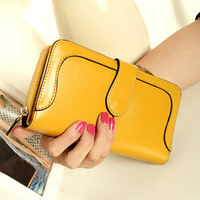 Women's wallet 2013 vintage long design multi card holder zipper wallet change clip mobile phone card bag
