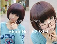 2014 Fashion Beautiful Classic hair Light Brown Black dark Brown Lady BOBO Short hair wig High-quality Free Shipping