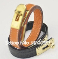 Free shipping H logo bracelets narrow-brimmed fashion leather bracelet couple models of men and women Bangle