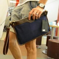 All-match casual male canvas envelope bag day clutch bag  for ipad   tablet clutch messenger bag