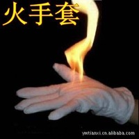 [ Gloves ] fire flame magic gloves props wholesale palm oil with a manual containing,creative magic mitten,wholesale