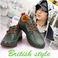 Fashion Brand High Quality Shoes For Men British Style Casual Leather Shoes Men