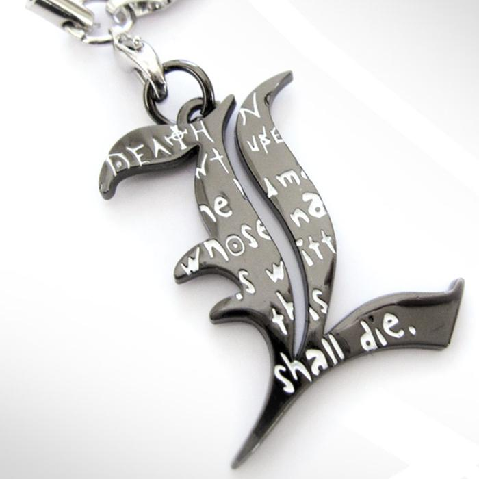 Death Note L Letter Pendant Necklace Mobile Phone Rope Keychain Free Shipping Birthday Gift(China (Mainland))